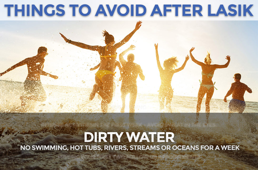 avoid dirty water after LASIk